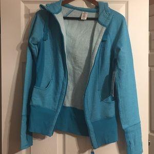 Active life ladies hoodie. Color: Turquoise.